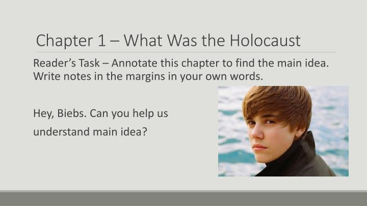 Chapter 1 – What Was the Holocaust