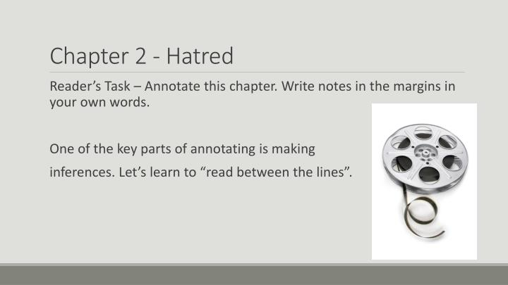 Chapter 2 - Hatred