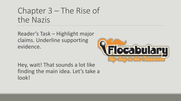 Chapter 3 – The Rise of the Nazis