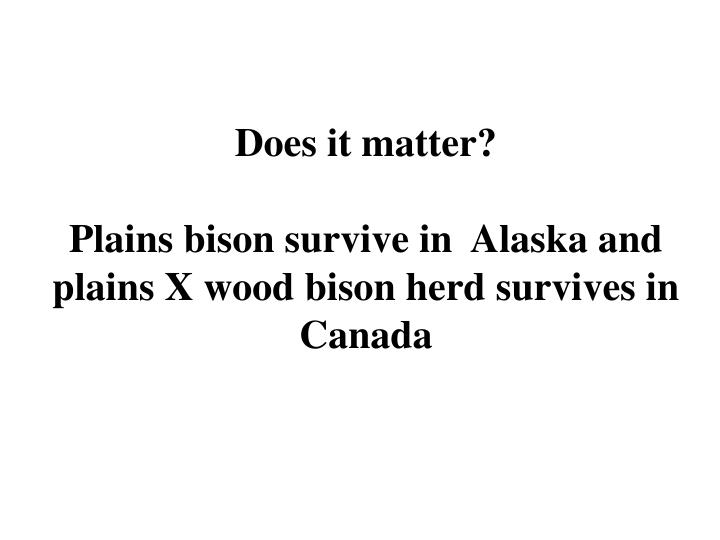 Does it matter?