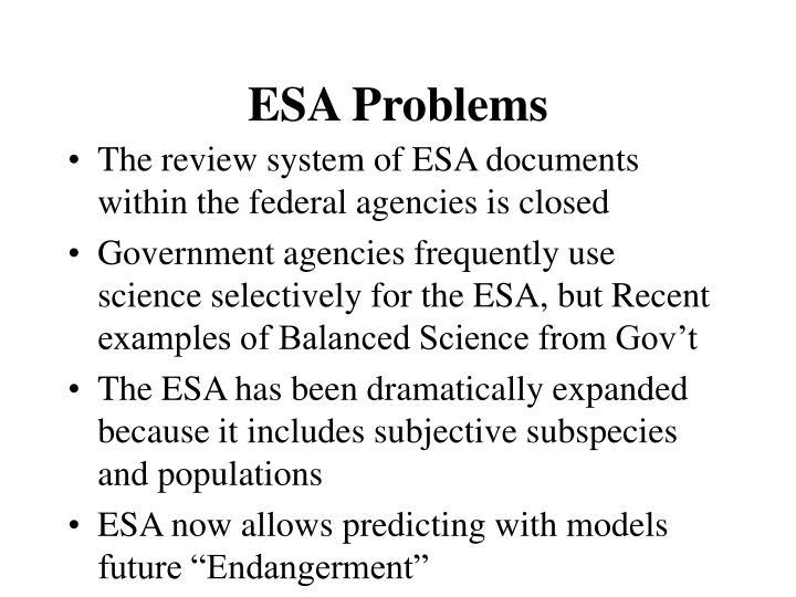 ESA Problems