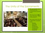 the unity of the sacraments