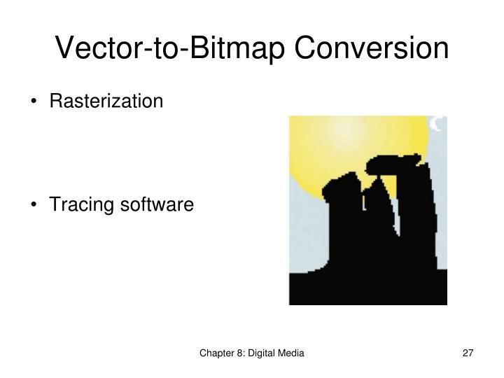 Vector-to-Bitmap Conversion