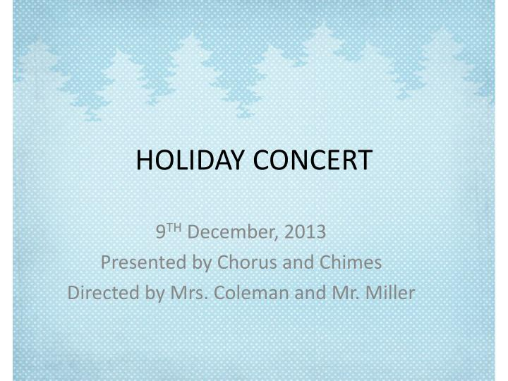 holiday concert n.