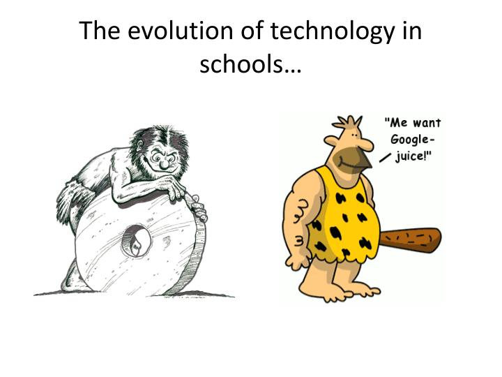 The evolution of technology in schools…