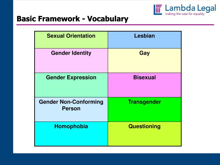 Basic Framework - Vocabulary