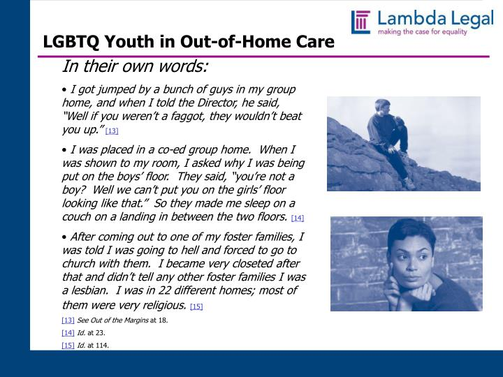 LGBTQ Youth in Out-of-Home Care