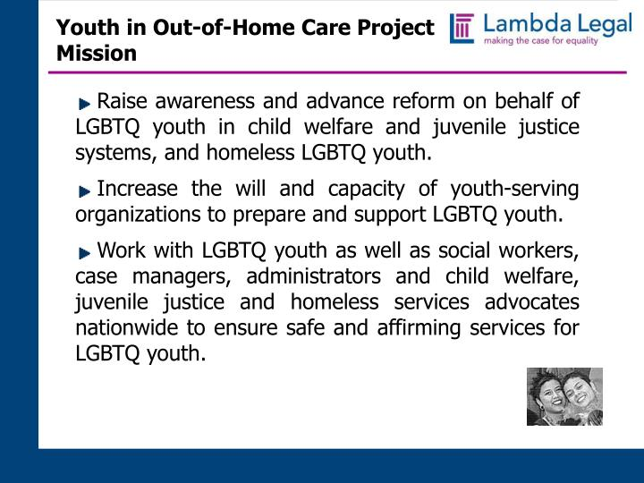 Youth in out of home care project mission
