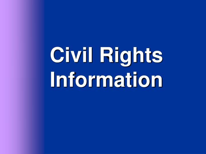 Civil Rights Information