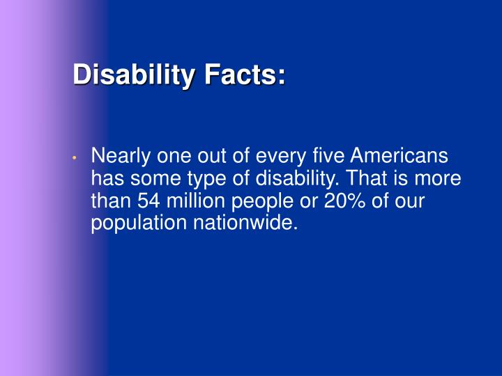 Disability Facts: