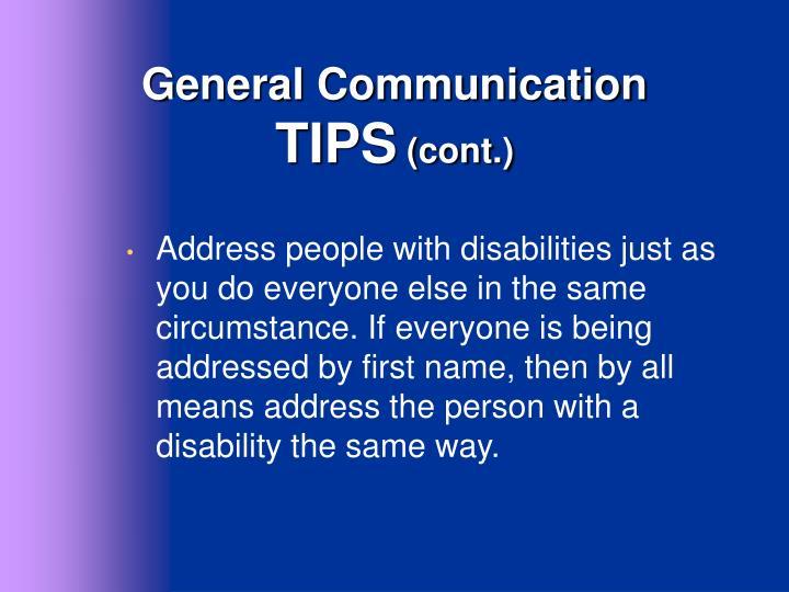 General Communication