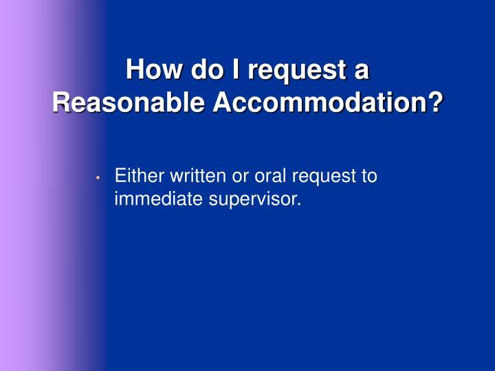 How do I request a