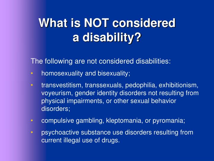 What is NOT considered