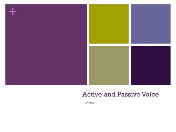 active and passive voice n.