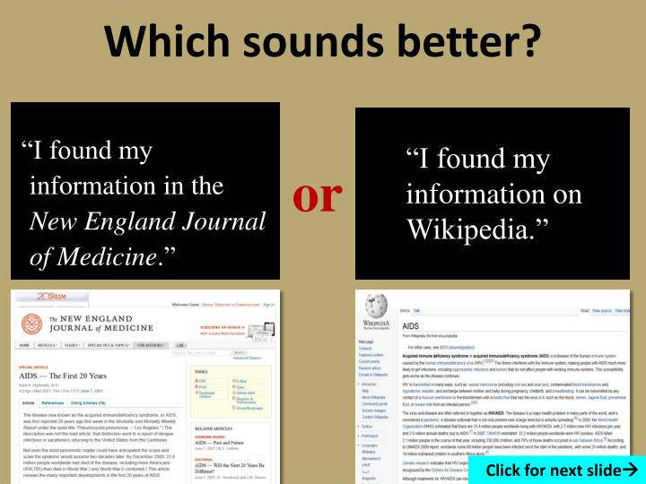 Which sounds better?