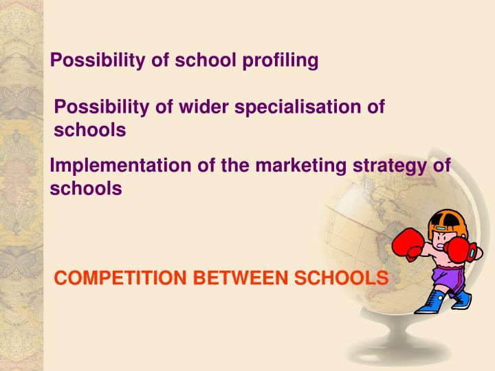 Possibility of school profiling