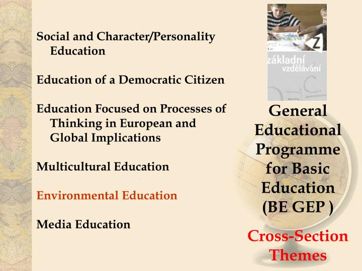 Social and Character/Personality  Education