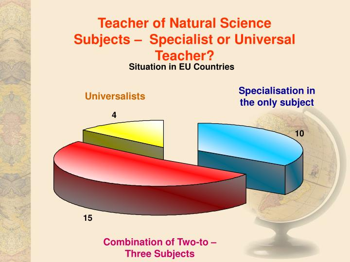 Teacher of Natural Science Subjects –  Specialist or Universal Teacher?