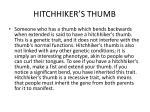 hitchhiker s thumb