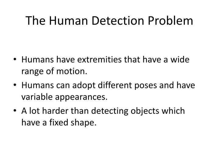 The human detection problem