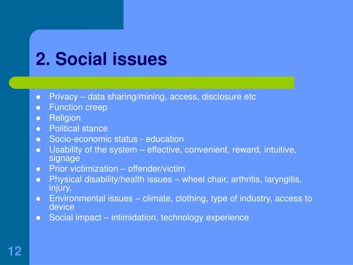 2. Social issues