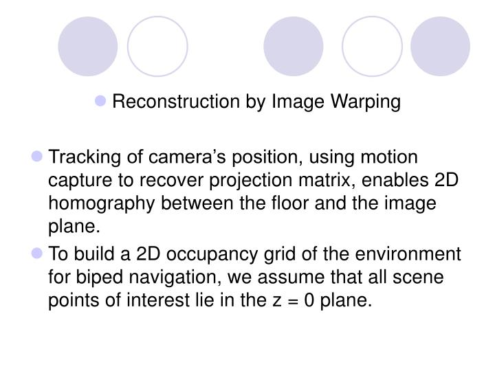 Reconstruction by Image Warping
