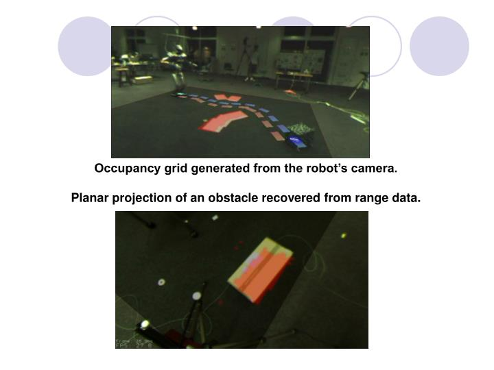 Occupancy grid generated from the robot's camera.