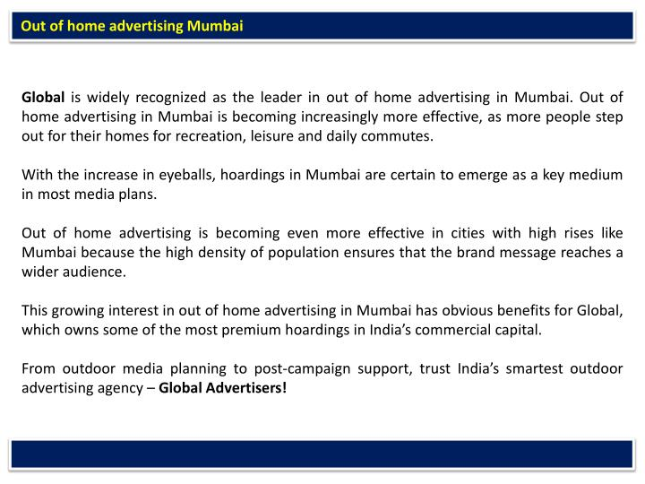 Out of home advertising Mumbai