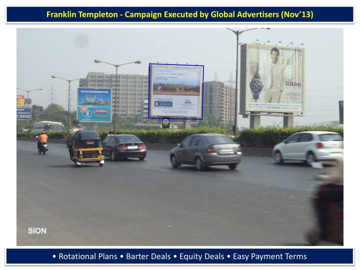 Franklin Templeton - Campaign Executed by Global Advertisers (Nov'13)