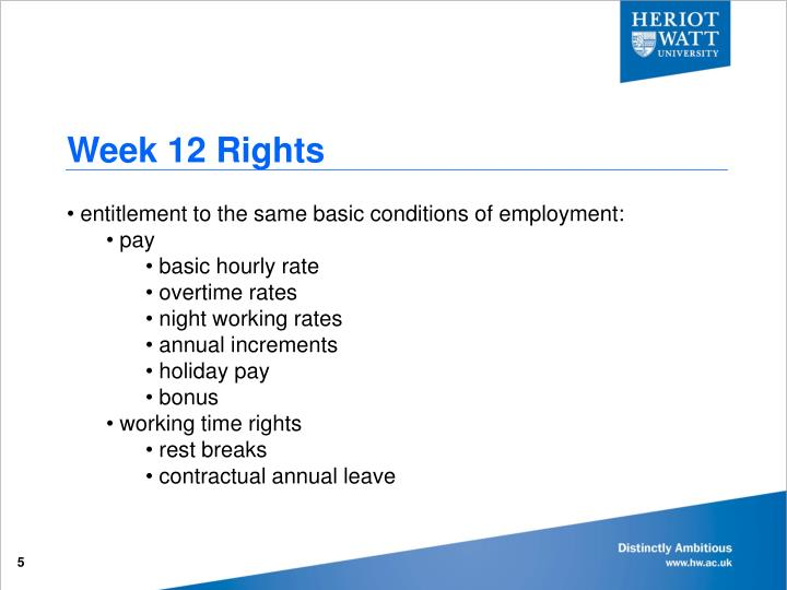 Week 12 Rights