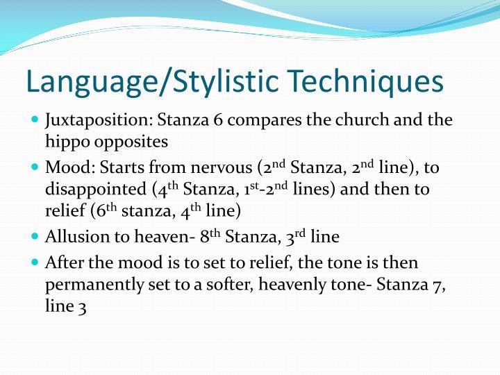 Language stylistic techniques