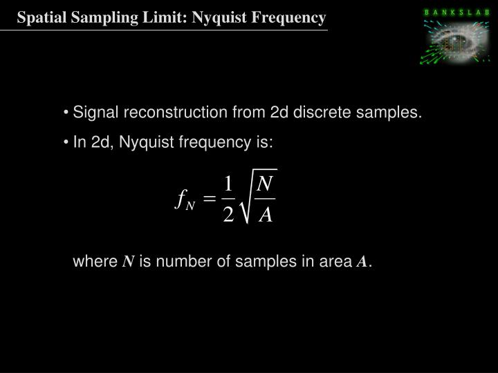 Spatial Sampling Limit: Nyquist Frequency