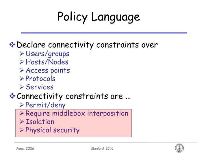 Policy Language