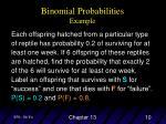 binomial probabilities example