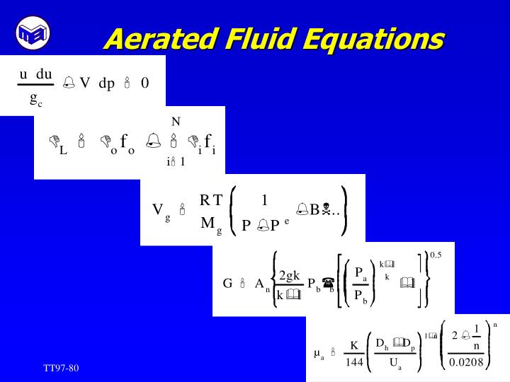 Aerated Fluid Equations