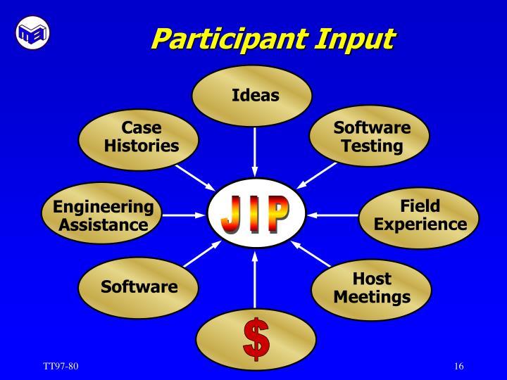 Participant Input