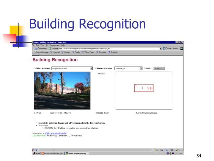 Building Recognition
