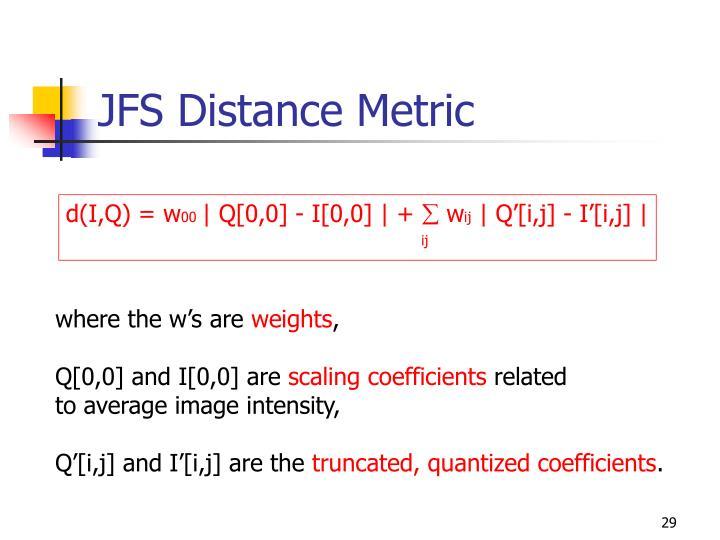 JFS Distance Metric