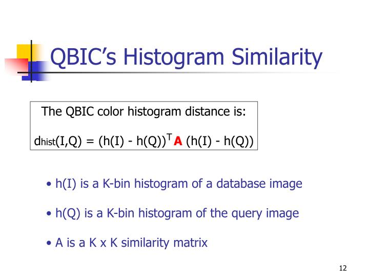 QBIC's Histogram Similarity