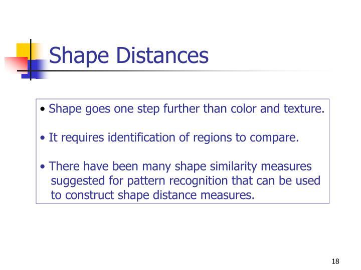 Shape Distances