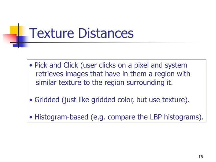 Texture Distances
