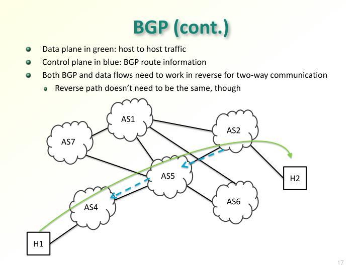 BGP (cont.)