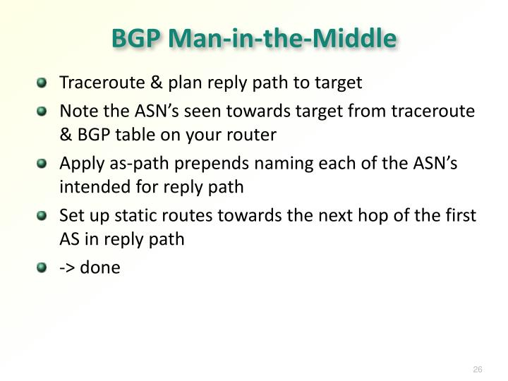 BGP Man-in-the-Middle