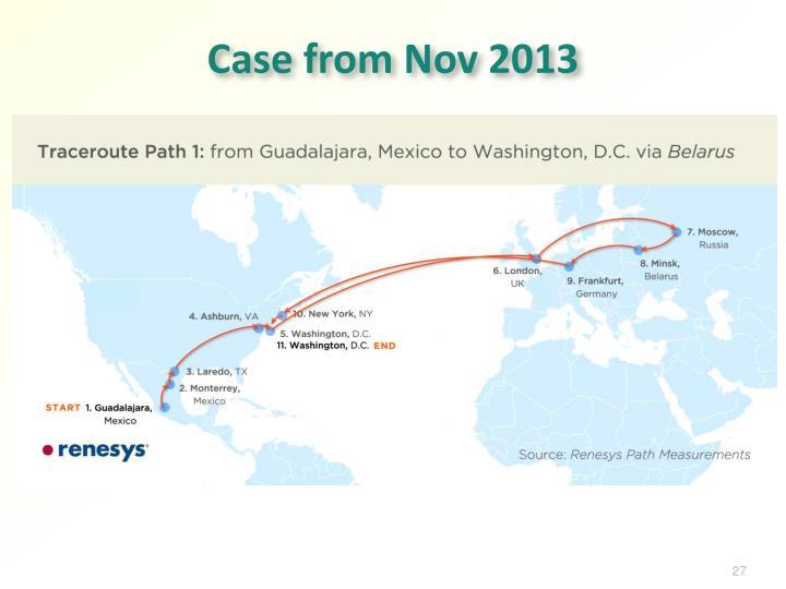Case from Nov 2013