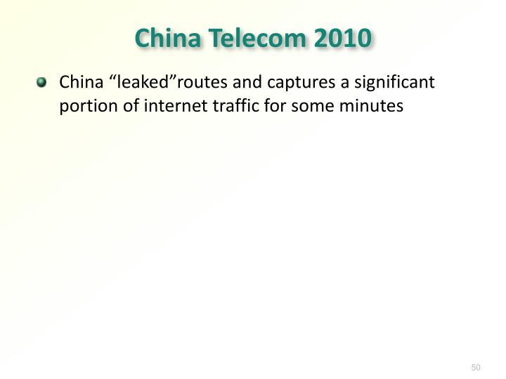 China Telecom 2010