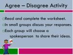 agree disagree activity