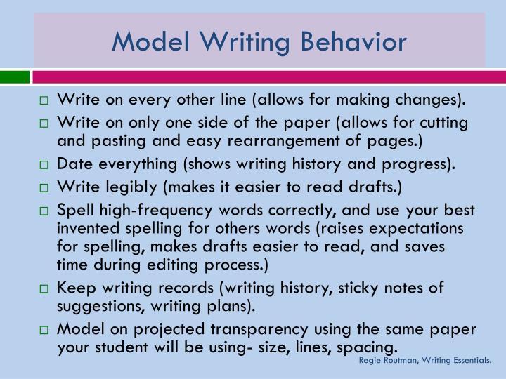 Model Writing Behavior