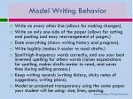 model writing behavior