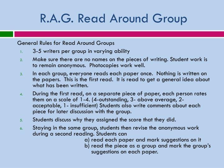 R.A.G. Read Around Group