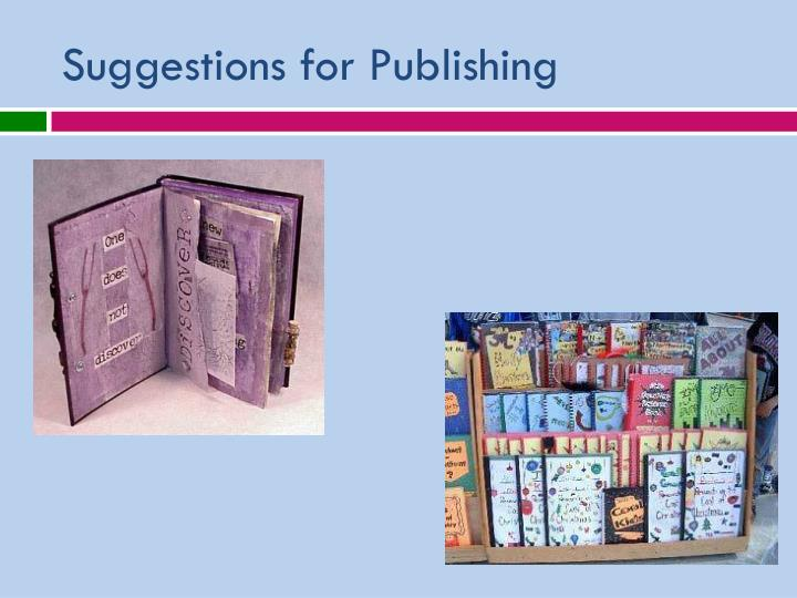 Suggestions for Publishing